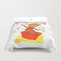groot Duvet Covers featuring Baby Groot by gunberk