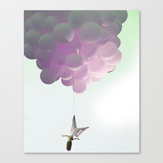 by a thread_ ballon girl Canvas Print