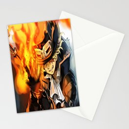 the power of fire on sabo Stationery Cards