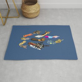 Artists Middle Fingers Rug