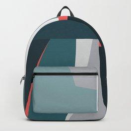 Organic Geometric 01 Blue Backpack