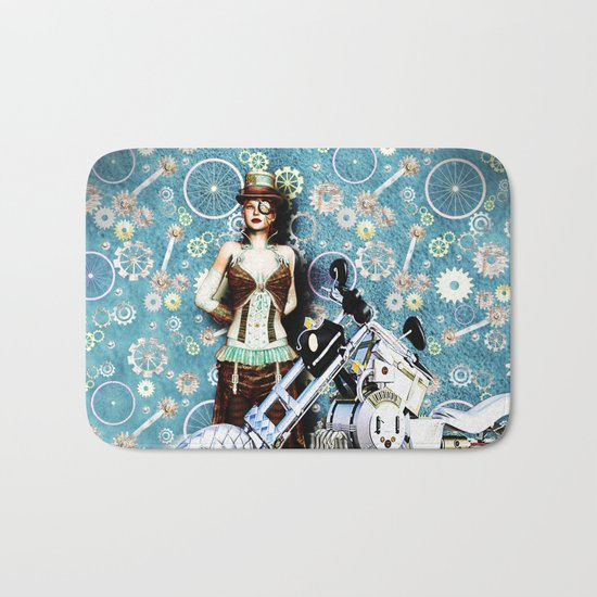 Steampunk Girl Bath Mat