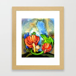 The Dragon and the Caterpillar Framed Art Print