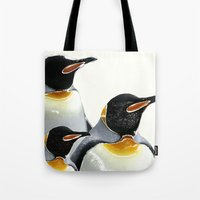 penguins Tote Bags featuring Penguins by Regan's World