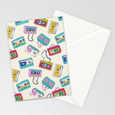 Vintage Cassette Tape Pattern Stationery Cards