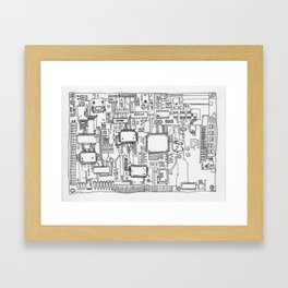 Circuits Framed Art Print