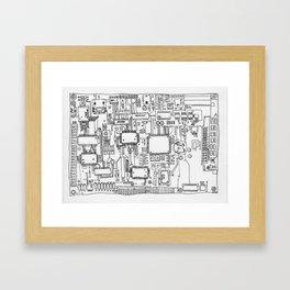 Circuits Framed Art Print