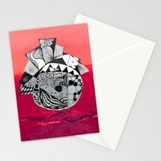 Orb in sea Stationery Cards