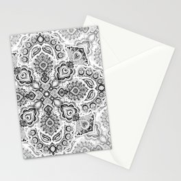 Pattern in Black & White Stationery Cards