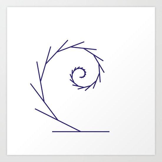#323 Tendril – Geometry Daily Art Print