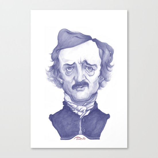 Edgar Allan Poe illustration Canvas Print