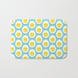 Cute hard boiled eggs Bath Mat