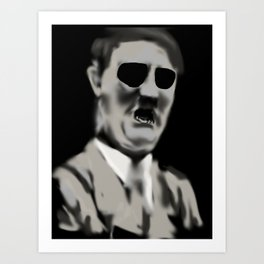 29- AdolfHitler & his Mouth Art Print