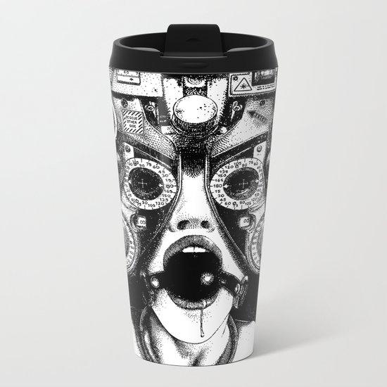 asc 712 - Le masque de la Méduse (Object woman) Metal Travel Mug