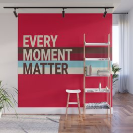 Every Moment Matter Cherry Cream Cupcake Wall Mural
