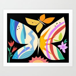 Sunshine Butterfly  Art Print