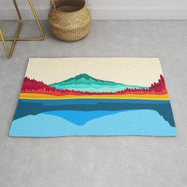 Mount Hood and Trillium Lake Rug