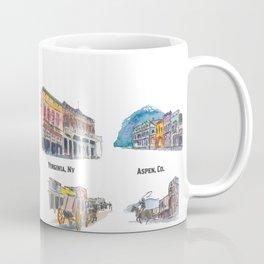 USA Wild West Towns Main Streets - Telluride, Breckenridge, Aspen & Co. Coffee Mug