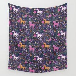 Unicorns Dancing in an Enchanted Garden Wall Tapestry
