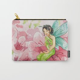 Pink Bookworm Faerie Carry-All Pouch