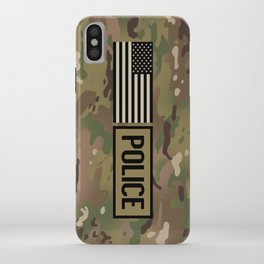 Police: Woodland Camouflage iPhone Case