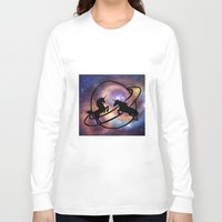 unicorns Long Sleeve T-shirts featuring Space Unicorns by haroulita