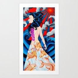 Coy Art Print
