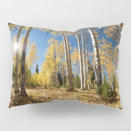 Crested Butte Colorado Fall Colors Panorama - 3 by OLena Art Pillow Sham