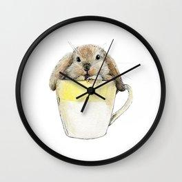 Rabbit in the mug Wall Clock