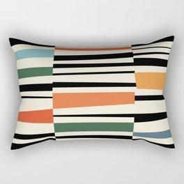 MCC Oddities II - Mid Century Modern Geometric Abstract - Blue Orange Yellow Red Rectangular Pillow