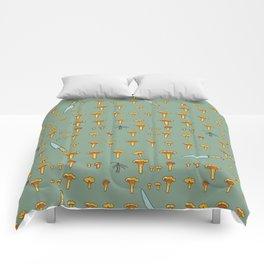 Mushroom hunting Comforters