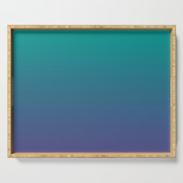 Bright Green Ultra Violet Gradient | Pantone Color of the year 2018 Serving Tray
