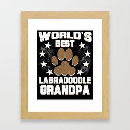World's Best Labradoodle Grandpa Framed Art Print