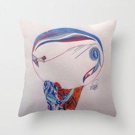 Erte Inspired Fashion Print Throw Pillow
