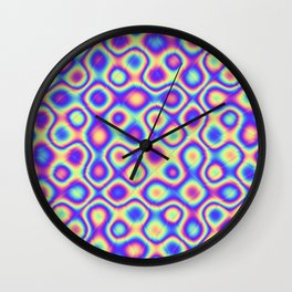 Pattern 60's like Wall Clock