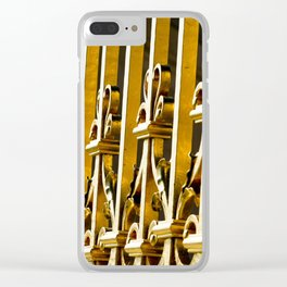 Parisian Golden Gates of the Palace of Versailles French Architecture Photograph Clear iPhone Case