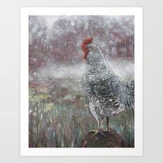 Swamp Rooster Art Print