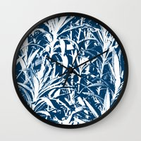 plant Wall Clocks featuring Plant by H. Burak Yel