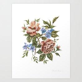 Rustic Florals Art Print