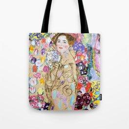 """Gustav Klimt """"Portrait of Maria Munk (unfinished)"""" Tote Bag"""
