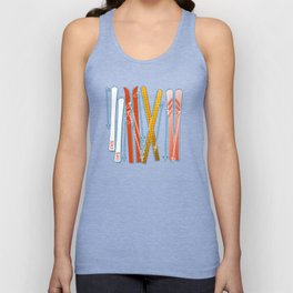 Colorful Ski Pattern Unisex Tank Top