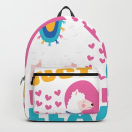 Girl Loves Llama Backpack