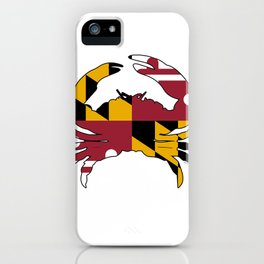 Maryland Crab Flag iPhone Case