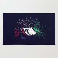 the joker Area & Throw Rugs featuring Joker by Steven Toang