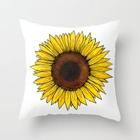 friday Throw Pillows featuring Friday by SkinnyGinny