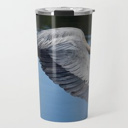 Great Blue Heron in Motion Travel Mug