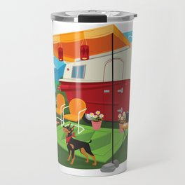 Relic 2 Vintage Travel Trailers, Caravans, Campers and Glamping Art Travel Mug