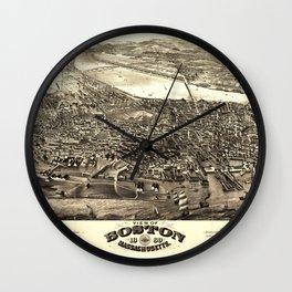 View of Boston, Massachusetts (1880) Wall Clock