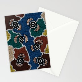 Authentic Aboriginal Art - Riverside Dreaming Stationery Cards