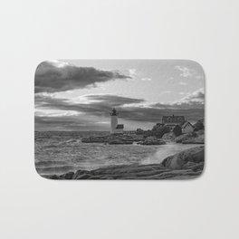Annisquam Lighthouse Black and white Bath Mat